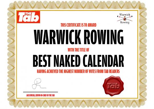 Warwick certificate