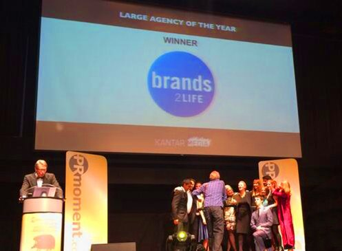 We won Large Agency of the Year at the 2014 Golden Hedgehog Awards