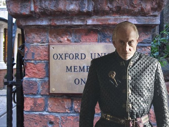 """A Lannister always pays his debts...even when they include three sets of tuition fees..."""