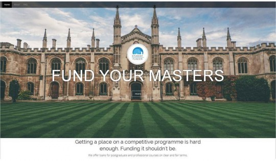 Fund your masters screen