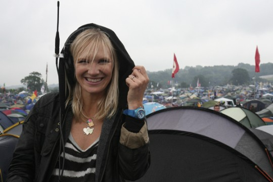 The rain is less of an issue when you're paid to be there Photo: BBC