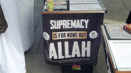 A stall at the Islamic Roadshow