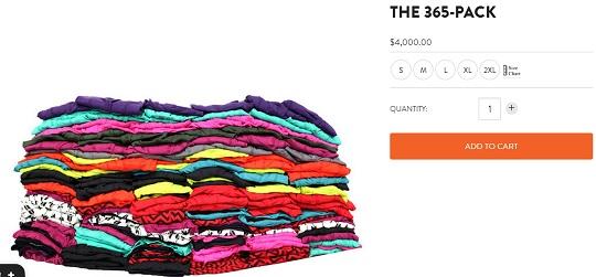 $4,000 in underwear? Yeah, fuck it, sounds like a bargain.