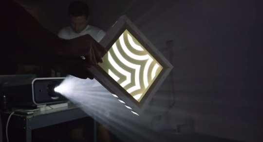 Different surfaces and materials were used for the projections