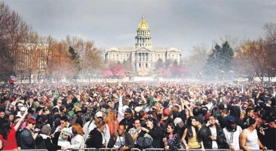 A 420 celebration in Denver, Colorado