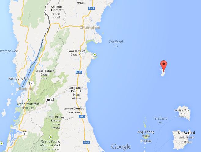 Koh Tao off the coast of Thailand