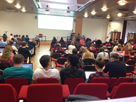 With this many people in your lectures, there aren't many chances to ask questions