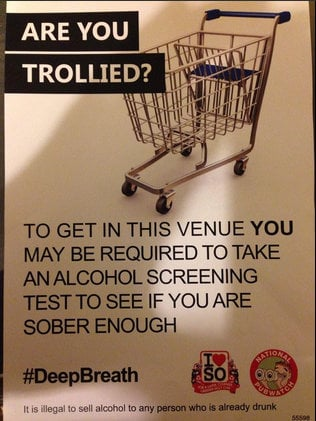 Signs like this are on the wall at Birmingham uni