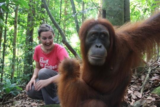 Emma practising her diplomatic skills in Indonesia