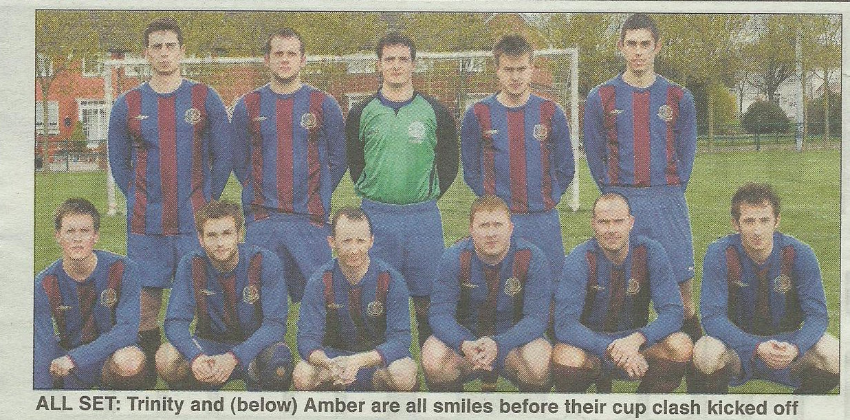Patrick (bottom left) making headlines during his 1st XI playing days