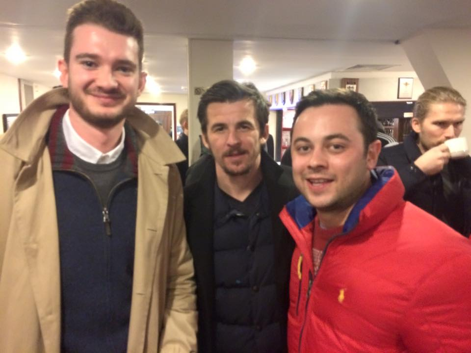 Happy times..Barton poses with fans