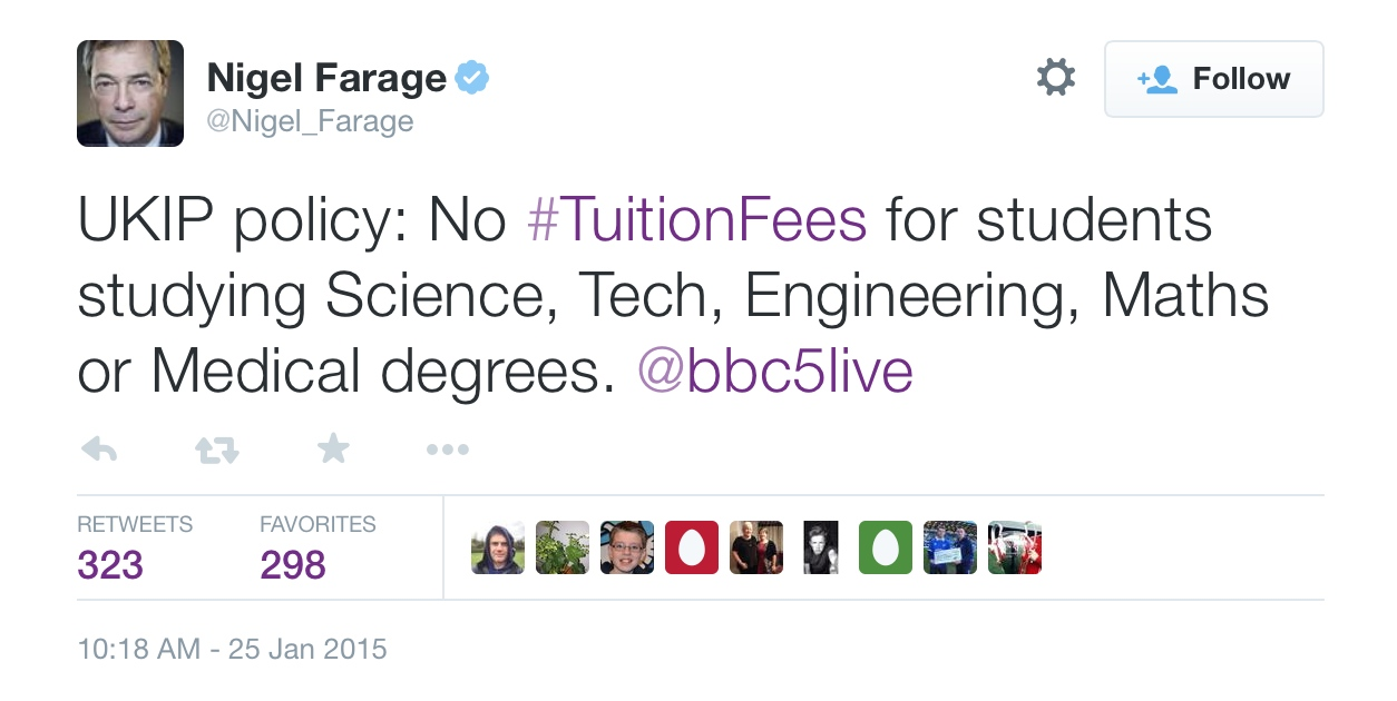 Nigel's promise to students