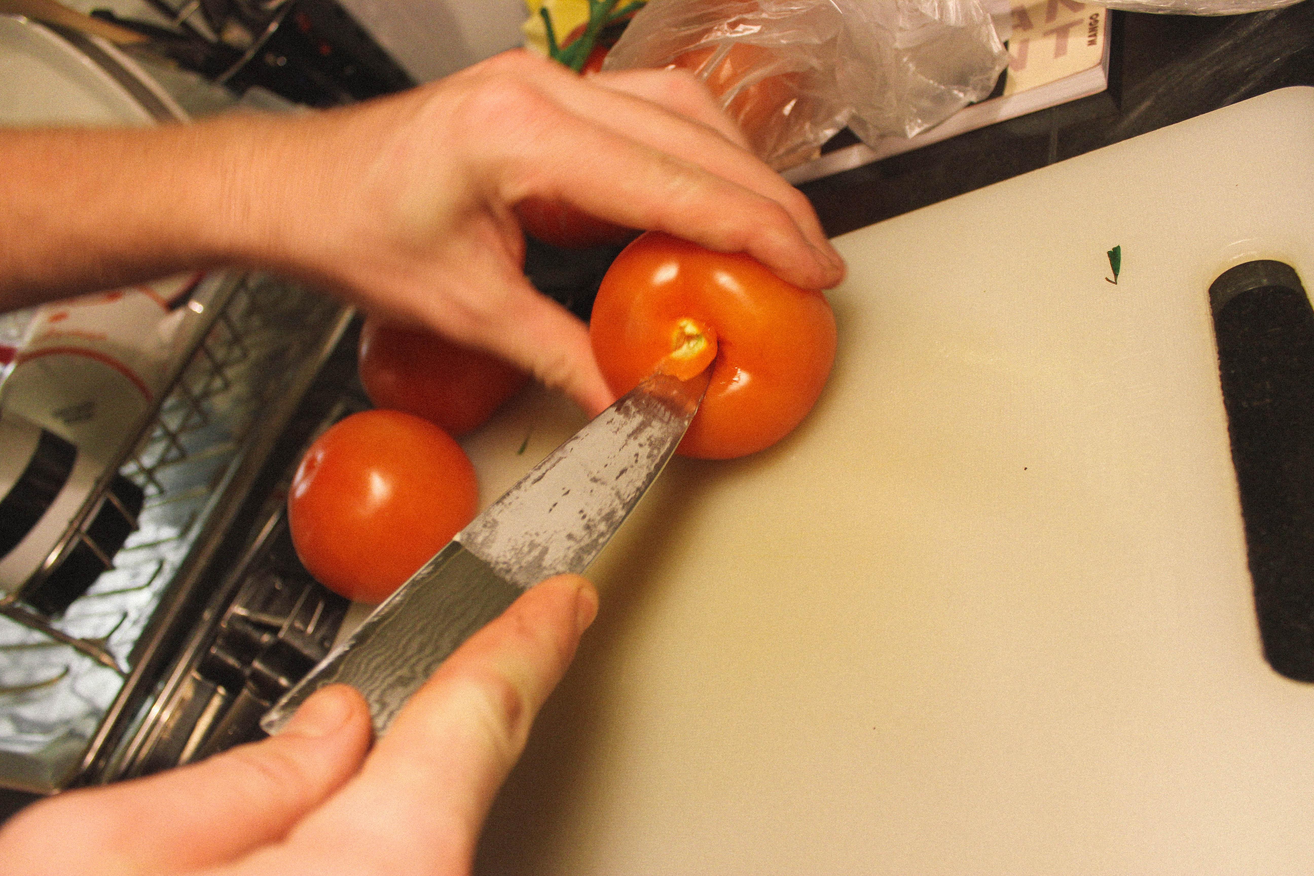 Preparing Tomato - starter