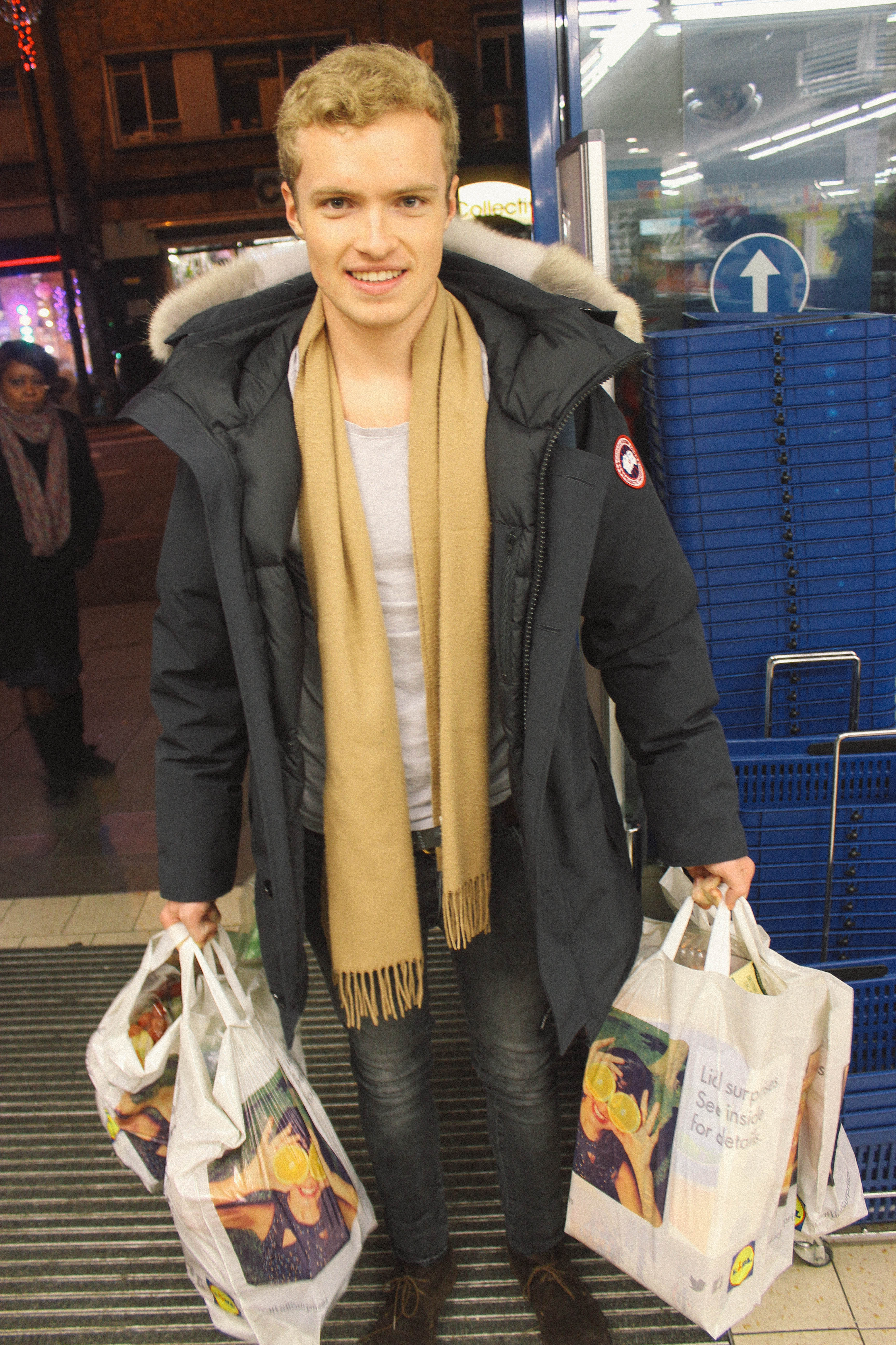 With Lidl bags