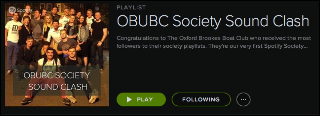 Winning playlist OBUBC