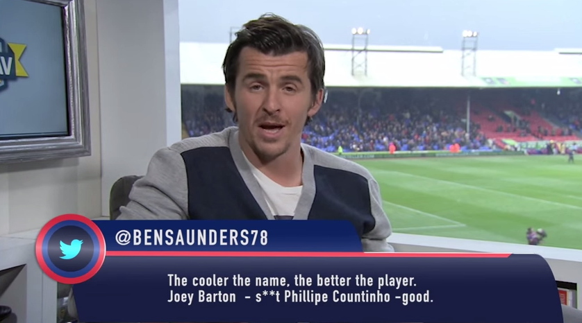 'Countinho': Barton was quick to tear apart any tweets lacking perfect spelling and grammar