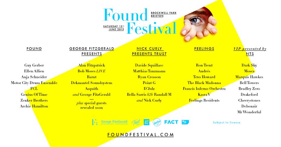 Found Festival 2015 FULL LINEUP V1