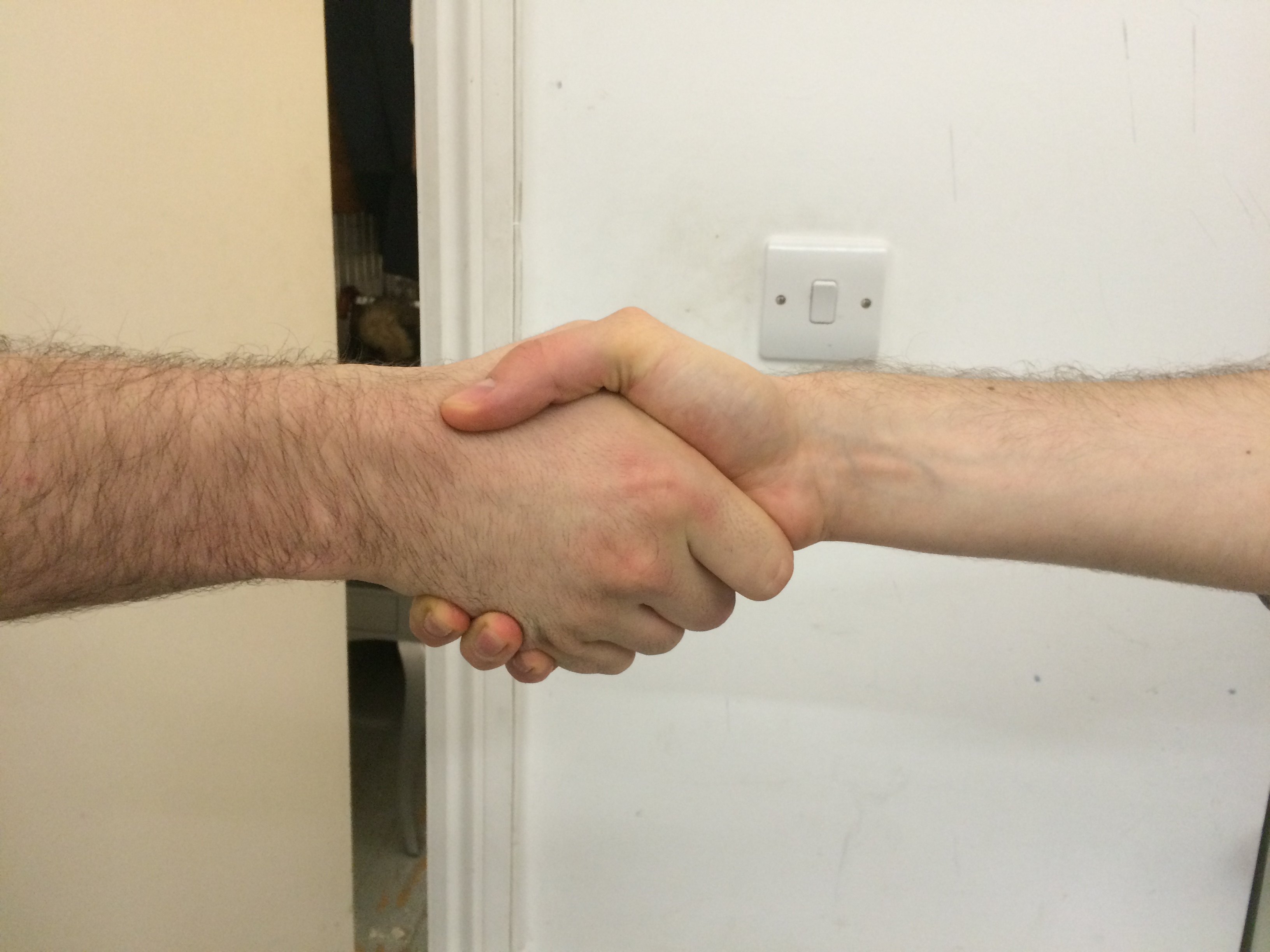 Hand job are the new handshake are mistaken