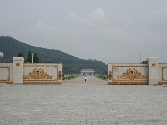 The road ahead of the Kumsusan Palace of the Sun