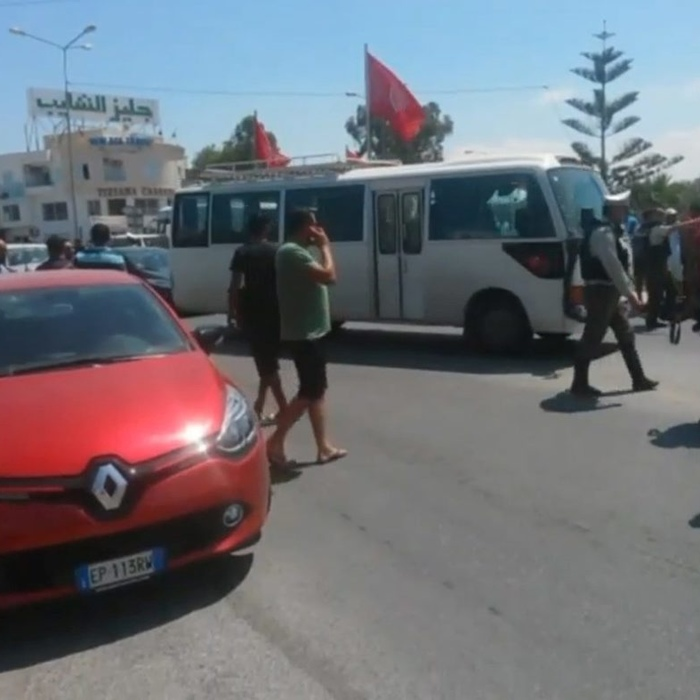The scene in Sousse in the immediate aftermath of the attack (SWNS)
