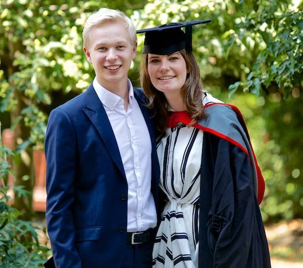 The couple at Charl's graduation
