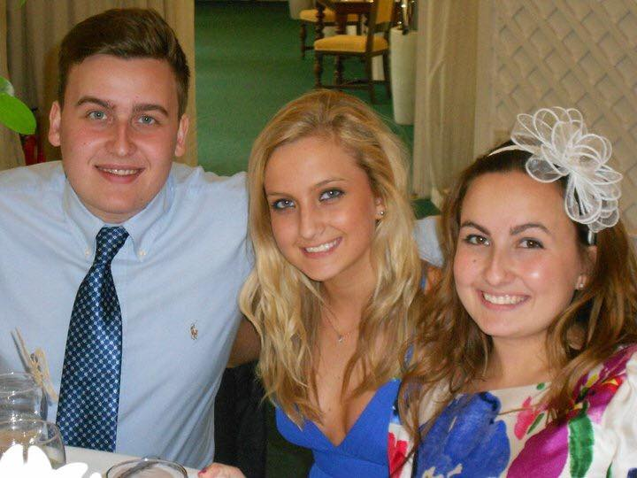 Adam Fisher and his sisters, Clare and Chloe