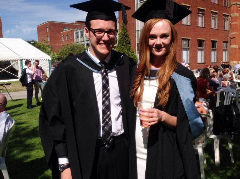 The couple at their graduation