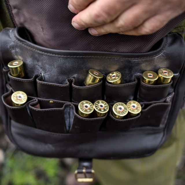 Shotgun shells are seen in a bag on a shoot near Glenclova, Scotland on August 12 2015. Known as the Glorious Twelfth, today marks the beginning of the Grouse hunting season. A shooting party took to the hills surrounding Glenclova in what's thought to be a bad season for Grouse hunting.