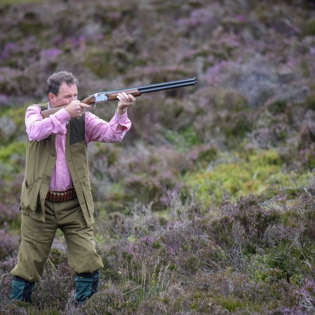 A member of a shooting party is pictured on a shoot near Glenclova, Scotland on August 12 2015. Known as the Glorious Twelfth, today marks the beginning of the Grouse hunting season. A shooting party took to the hills surrounding Glenclova in what's thought to be a bad season for Grouse hunting.