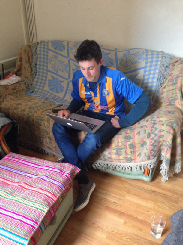 Jack in his favourite Shrewsbury kit