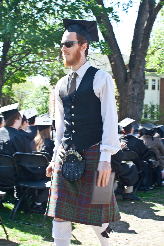 Scottish grads don't only have more fashion choices on the big day, but more chance of getting a job