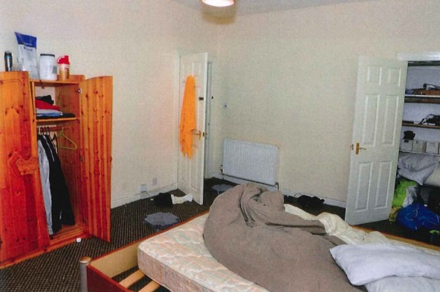 The bedroom of Alexander Pacteau