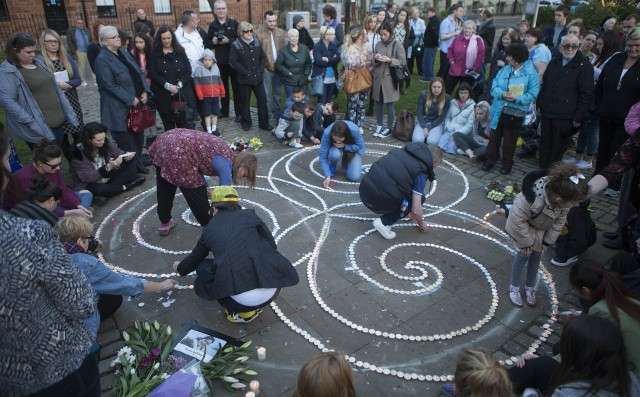 Around a hundred friends and neighbours from the community where Karen Buckley lived