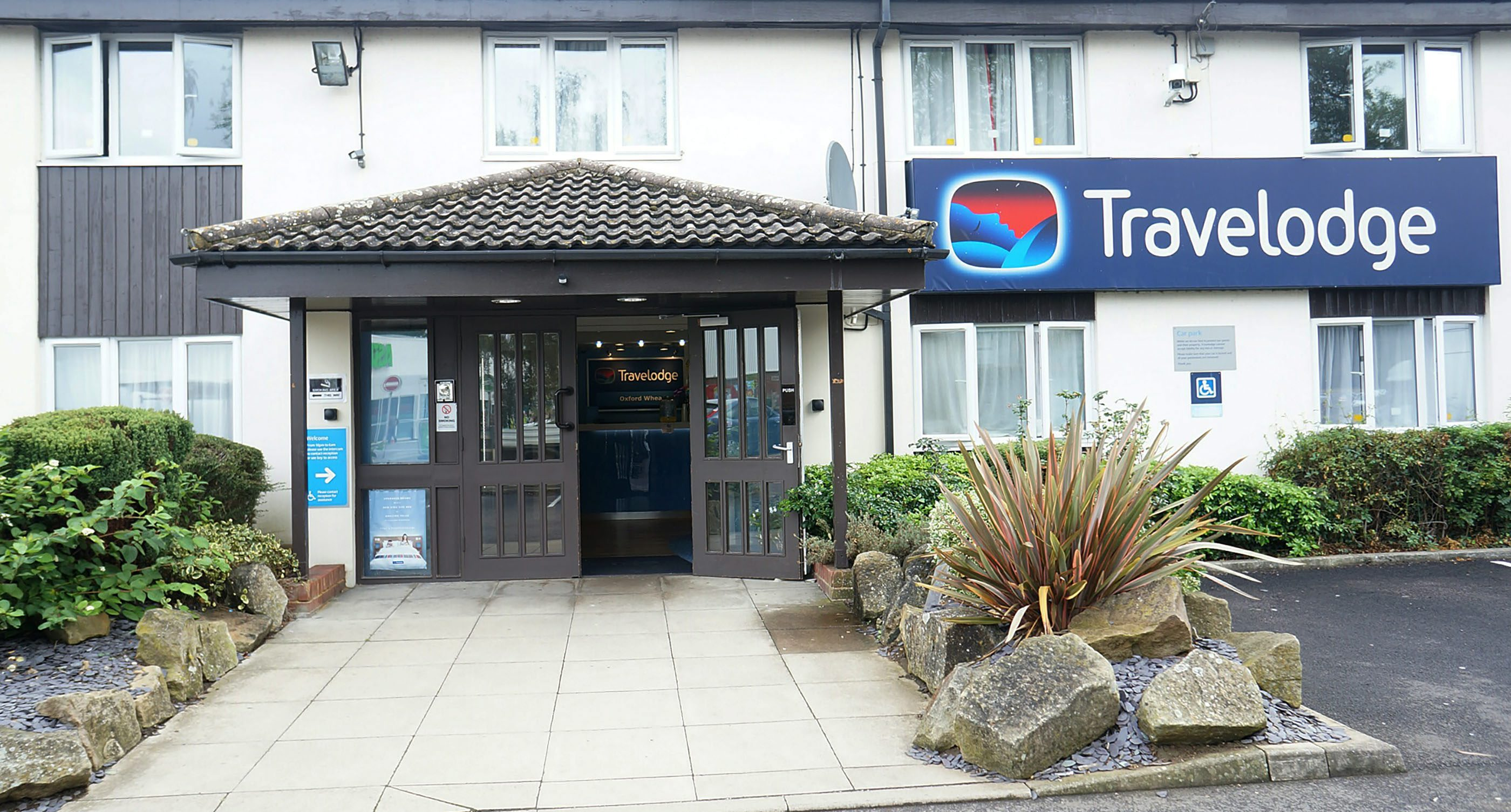 The Travelodge in Wheatlet, Oxford where Harmony was staying