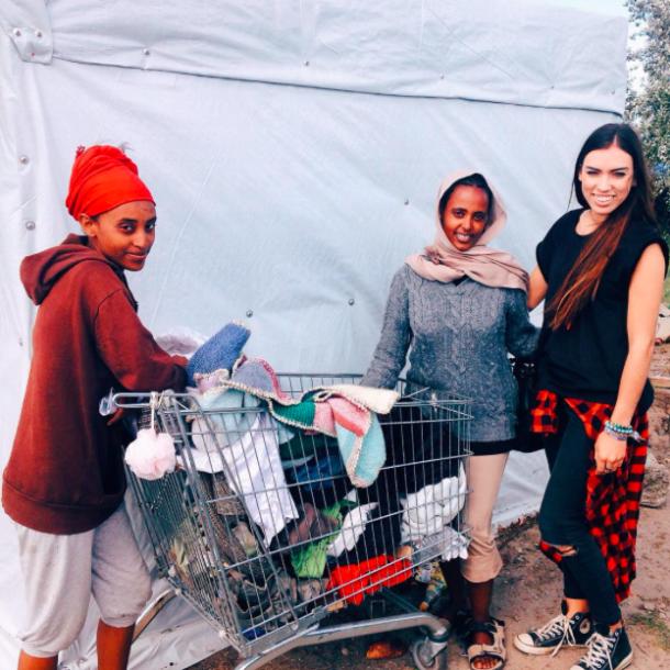 Jasmin O'Hara visited the Calais camps to donate supplies