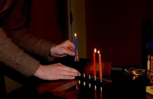 A Jewish student celebrating Hanukkah at Birmingham