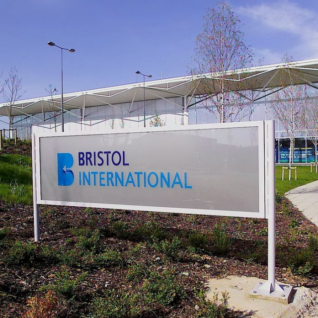"GV of Bristol airport. (file photo). See SWNS story SWDRUNK; A lecturer at a top university has quit in disgrace after slapping a policewoman in the face as she was kicked off a plane for being drunk. Mum-of-three Leah Wild, 44, who taught sociology at the University of Bath, started downing duty free Jack Daniels and brandy when her holiday flight was delayed. The Ryanair plane, carrying 184 passengers to Faro in Portugal, was stuck on the tarmac at Bristol for three hours because of a strike by French air traffic controllers. A court heard that Wild and friend Reuben Crowe, 23, became ""clearly drunk"" and were talking loudly and listening to loud music."