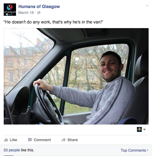 humans of glasgow
