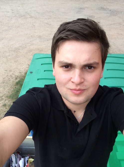 During a rare break from catering, Josh went outside to take a photo with the bins