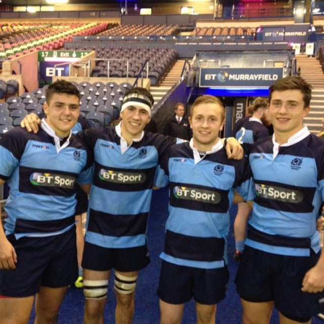 Max (left) with Glasgow Hawks