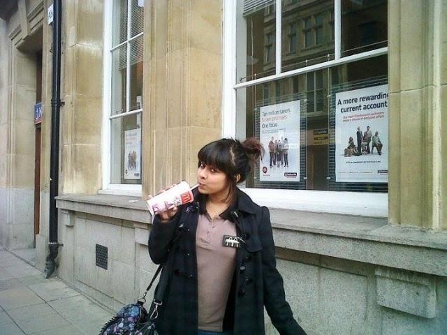 Gaby in her McDonald's days