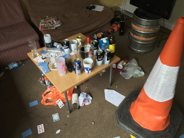 Don't leave your flat like this and you should get your deposit back without any problems