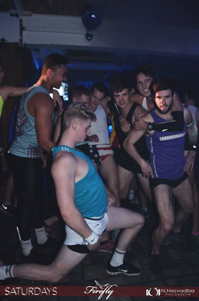 Members of the sports teams on a night out