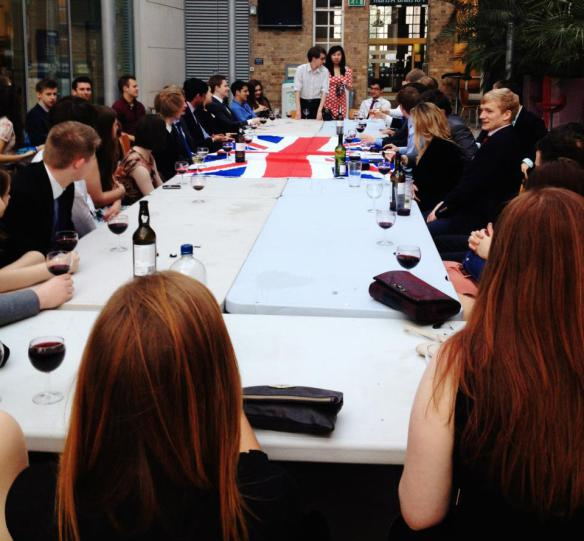 A Port and Policy event - a typical night hosted by Tory societies at uni