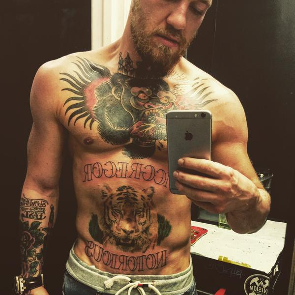 McGregor and his tattoos