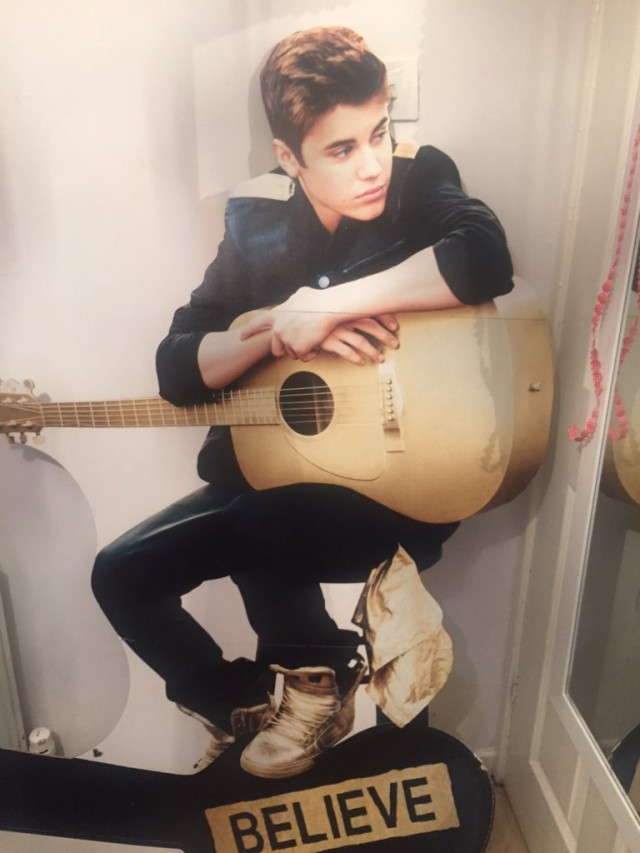 Eloise's life-size cardboard Justin