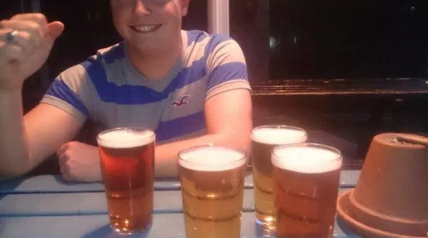 Every lad enjoys lager am I right?