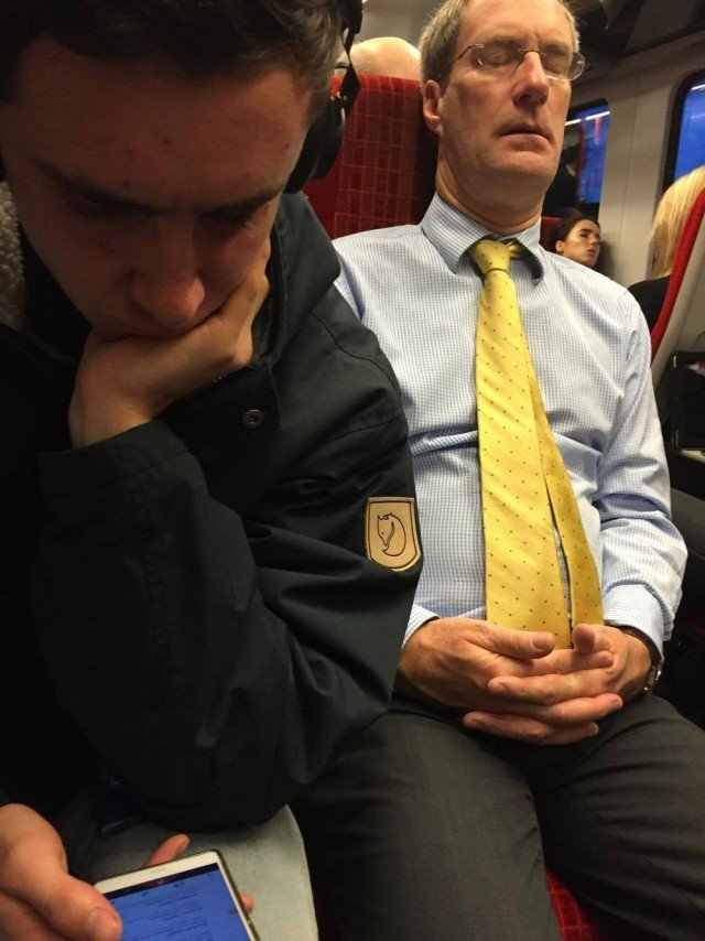 A lot of sleeping bankers