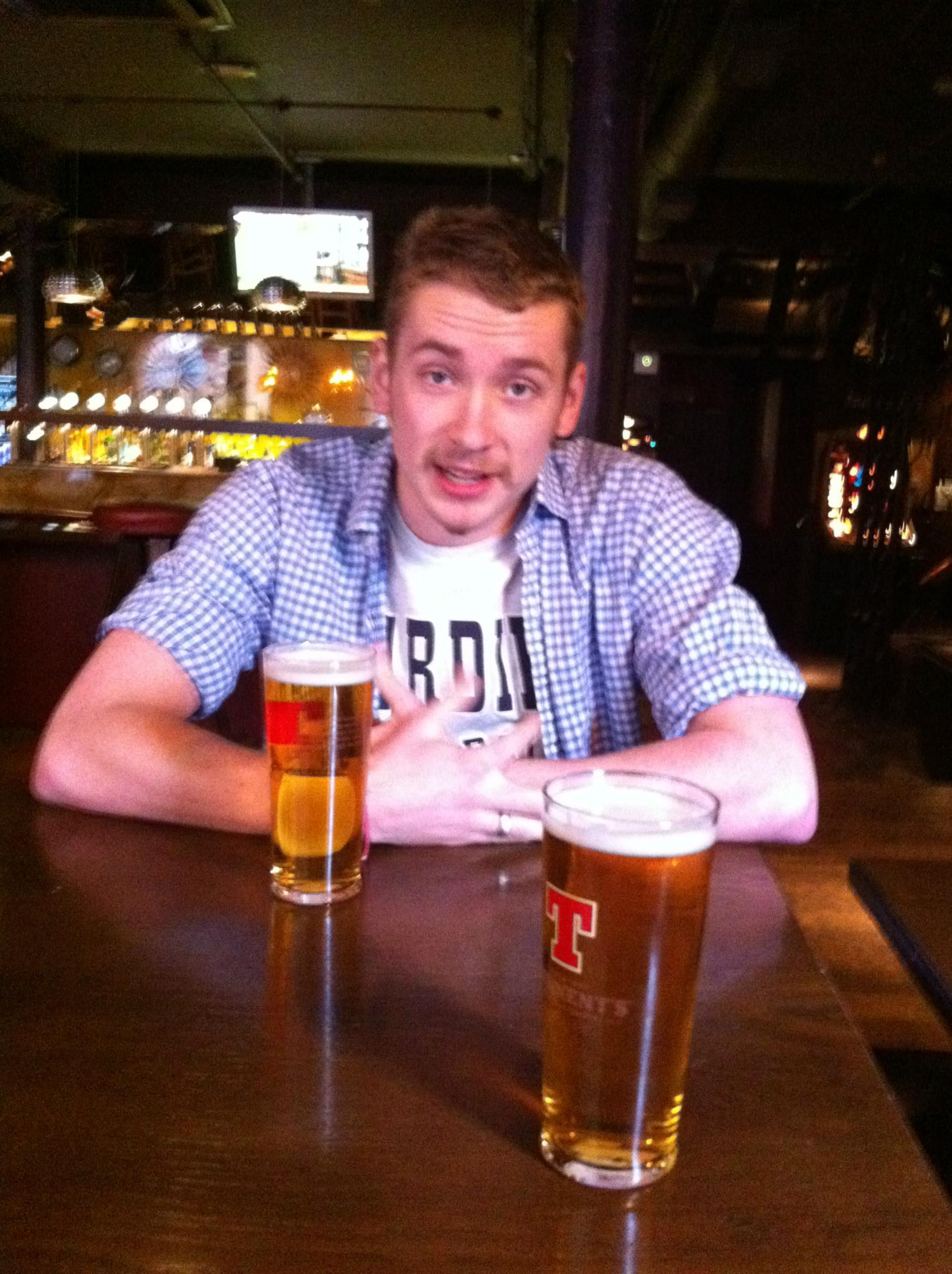A man in a pub