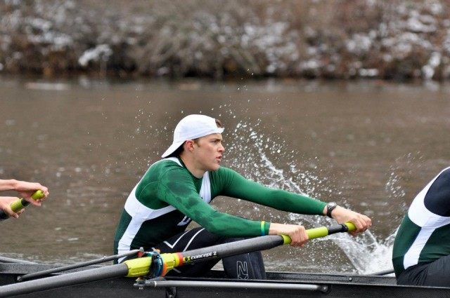 Austin rowing at college